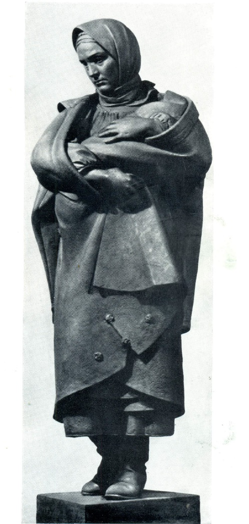 Katerina. Figure for monument of T.G. Shevchenko in Kharkov. Bronze. 1935
