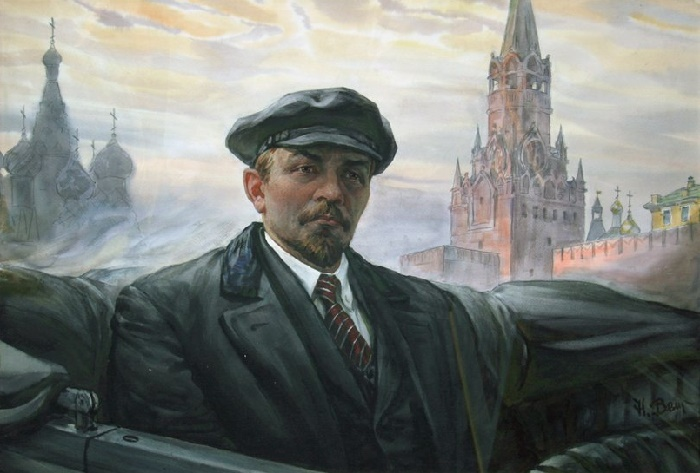 Nikolay Velicko. Lenin on Red Square