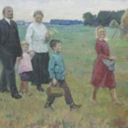 Oksana Dmitrievna Sokolovskaya (1917). Lenin and Krupskaya with children. 1967