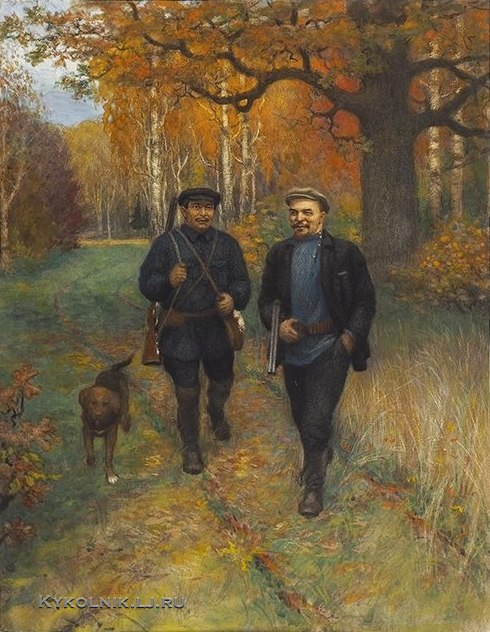 Paramonov Alexandr Nikitich (1874-1949). Lenin on the hunt. 1927