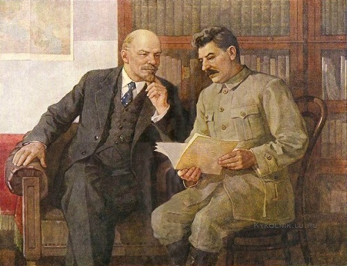 Leniniana - Soviet artists painting Lenin