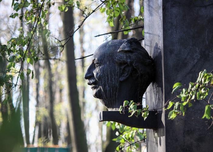 Physisist Abram Ioffe (1880 - 1960). Volkovo cemetery, St. Petersburg