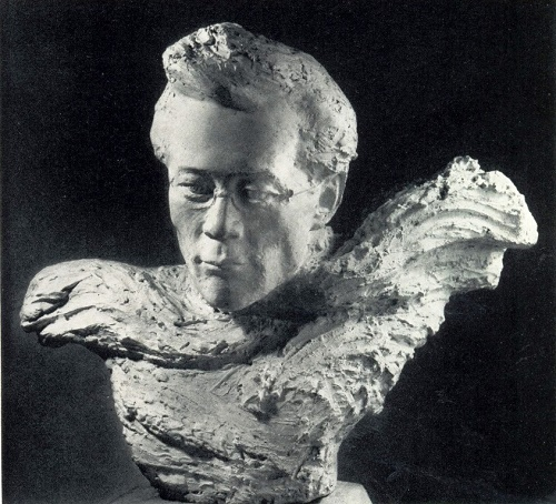 Portrait of PA Oiunsky. 1977, plaster