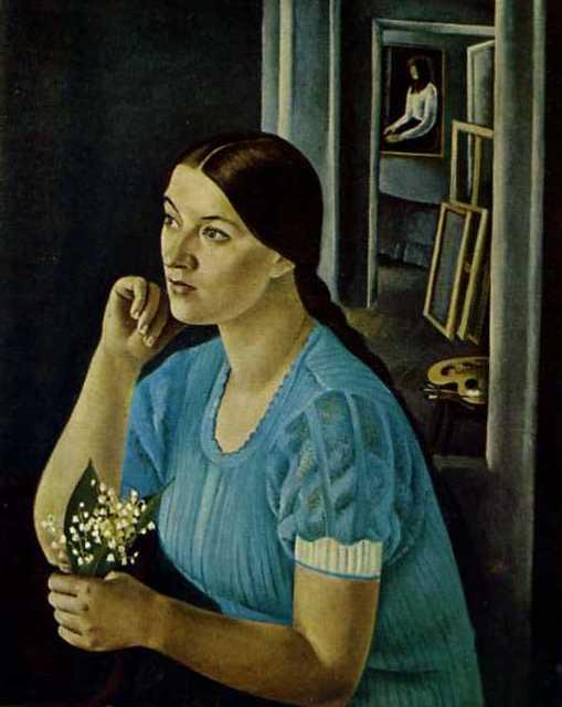 Portrait of artis Galina Sinyak. 1973