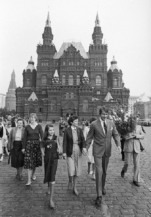 Samantha Smith visiting Soviet Union. Moscow. 1983