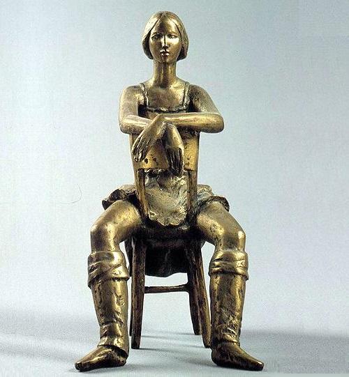 Sitting ballerina. Bronze. 1971. Soviet sculptor Angelina Filippova