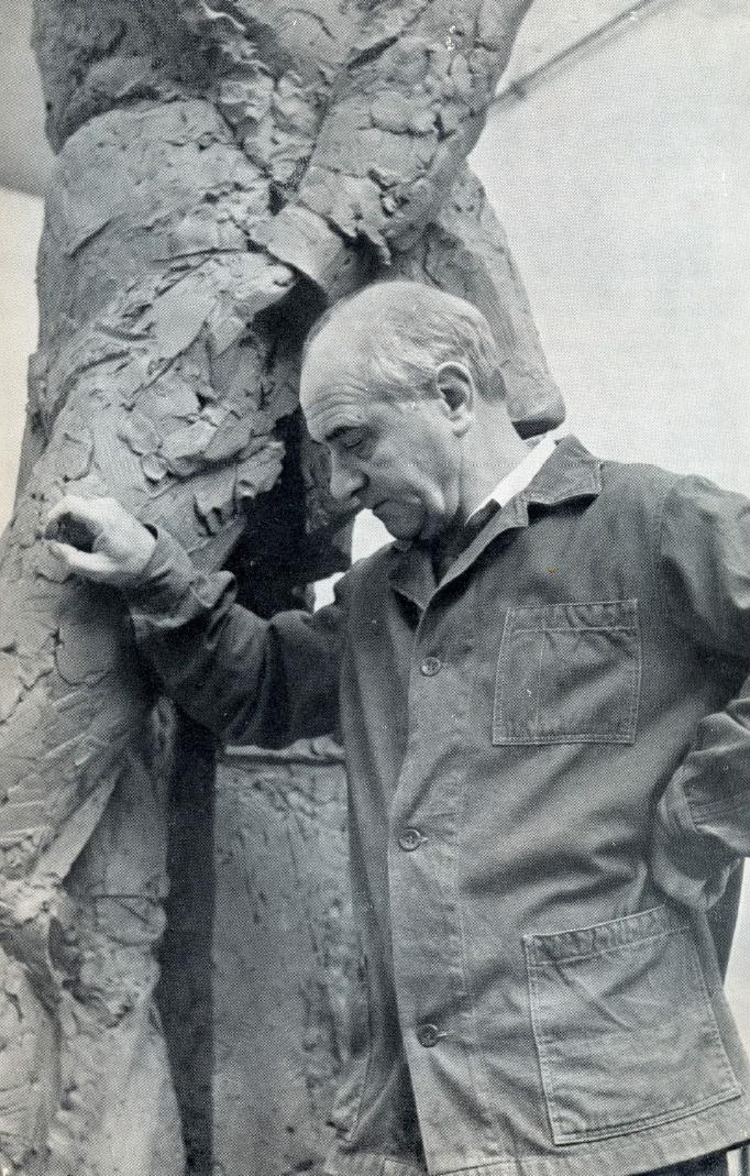 Soviet sculptor Mikhail Anikushin (1917 – 1997)