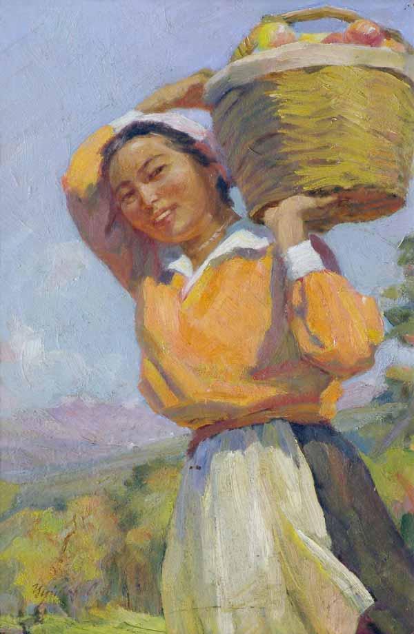 The daughter of Soviet Kirghizia. 1940s