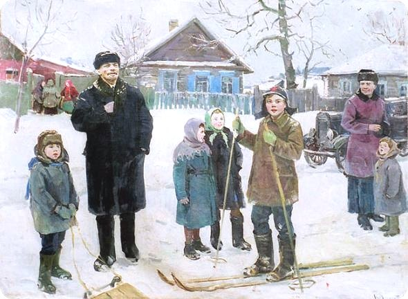 Trip to the village. 1960. Vitaly Yakovlevich Shepetovsky (1927-1988)
