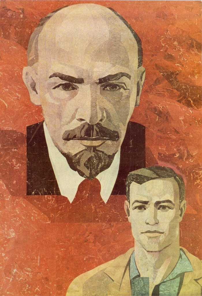 V. Zamkov. With Lenin