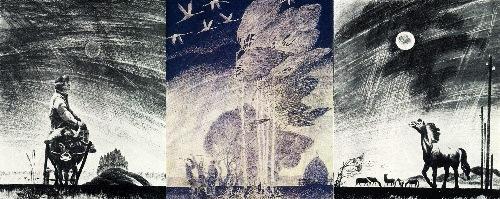 VD Ivanov. Triptych Autumn. 1979