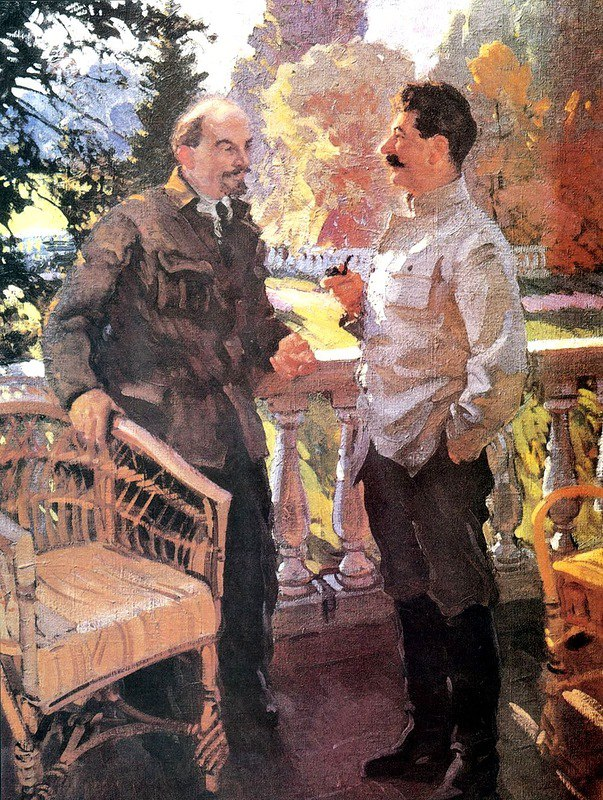Vasily Svarog. Lenin and Stalin in Gorki in 1923
