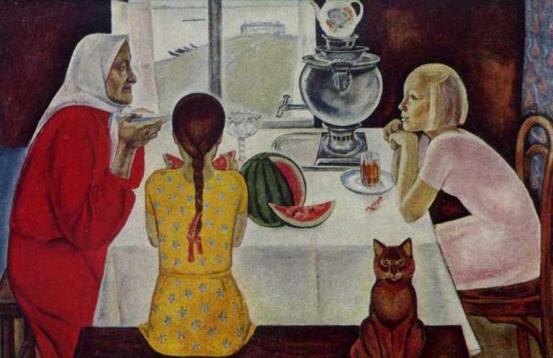 Visiting Granny Shura. 1967. Oil on canvas