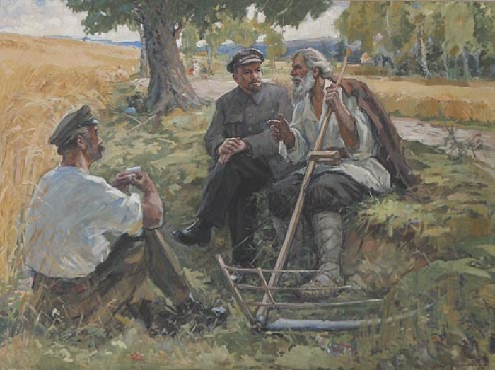 Yakov Ocheretko (1916). Meeting of Lenin and farmers. 1967