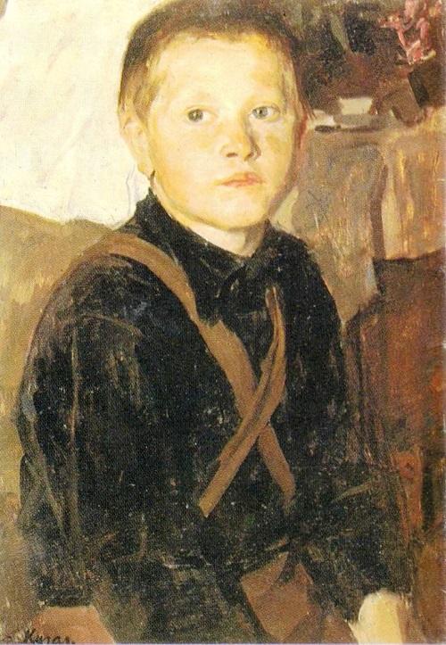 Yu Kugach. Misha. Oil. 1947