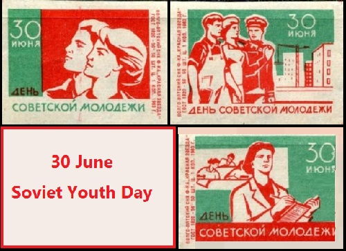 30 June Soviet Youth Day (matchbox labels)