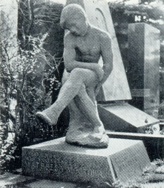 M. A. Minkus. Gravestone of AT Matveeva (bronze ebb from the model of 1909), Moscow, Novodevichy cemetery