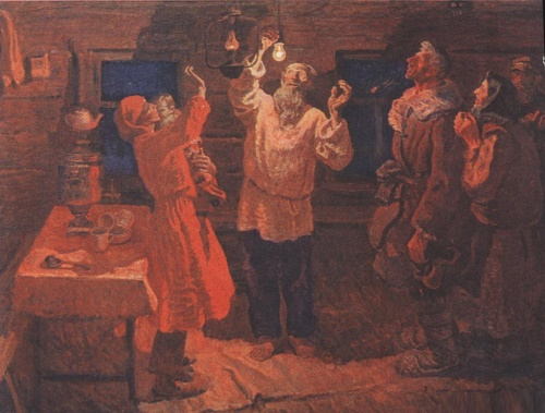 Alexander Tkachev, Sergei Tkachev. Light. Oil on canvas. 1970 - 1972