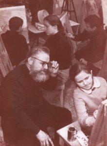 Soviet Children Learning Art
