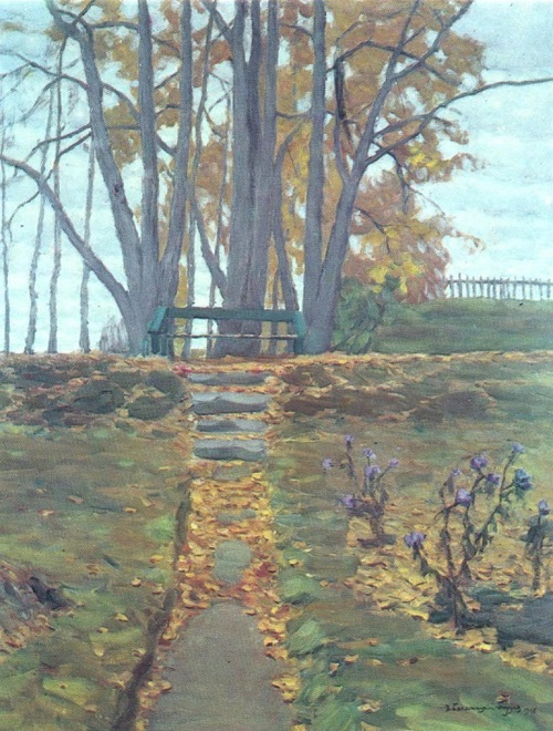 B. Byalynitsky-Birulya. Autumn. Oil on canvas 1908
