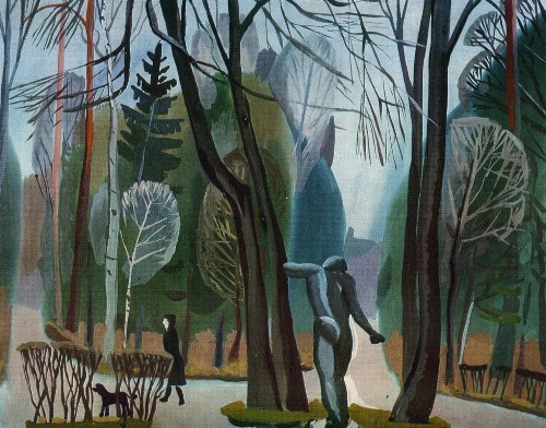 BP Zabirokhin (born 1947 Leningrad). Alley. 1975. Paper, watercolor, gouache