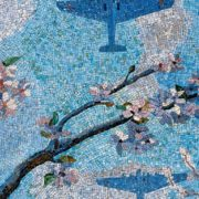 Blossoming apple. Mosaic on the Mayakovskaya metro station. 1938. Detail