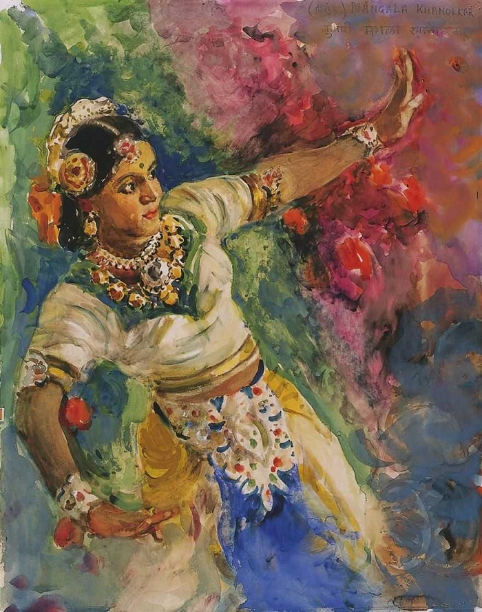 Bombay dancer. 1953
