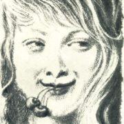 Illustration to the novel of R. Rollan 'Kola Brunion'. 1935. Litography