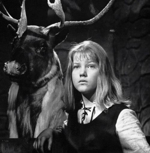 Soviet Actress Elena Proklova as Gerda in the film Snow Queen. USSR