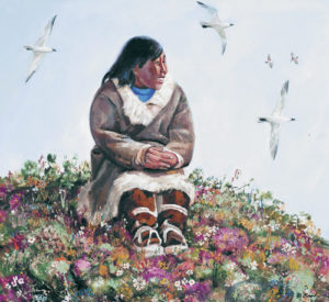 Happy. From the series 'Chukotka'. 1969. Oil on canvas