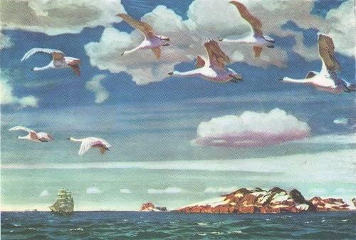 In a blue vastness. Soviet artist Arkady Rylov