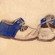 Alenka's shoes. 1950