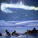 Northern Lights. 1960. Soviet artist Andrey Yakovlev. Murmansk Regional Art Museum