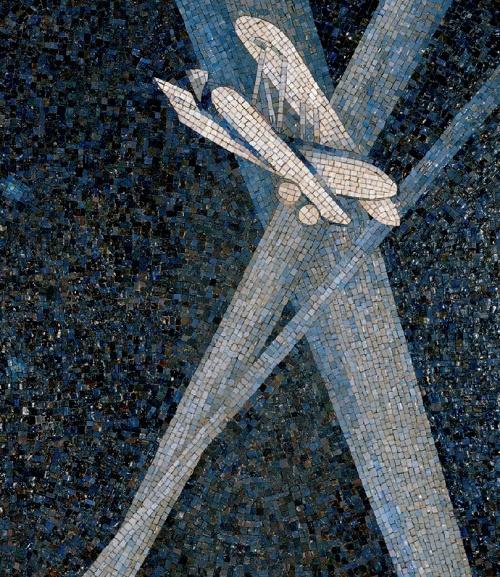 Searchlight. Mosaic on the Mayakovskaya metro station. 1938. Detail