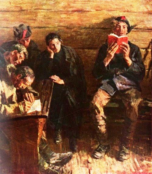 Soviet artists Tkachev Brothers. Between the fights