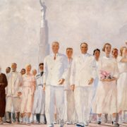 Stakhanovtsy. Sketch of mural 'Noble people of the country of the Soviets' for the World Exhibition in Paris. 1937