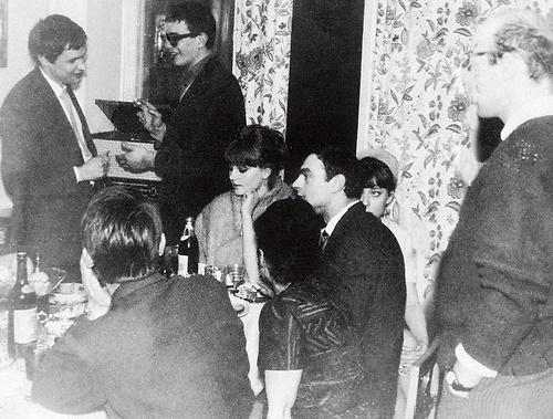 Standing - Mikhail Romadin and Nikita Milhalkov, sitting Marianna Vertinskaya, Lev Zbarsky, Anastasia Vertinskaya