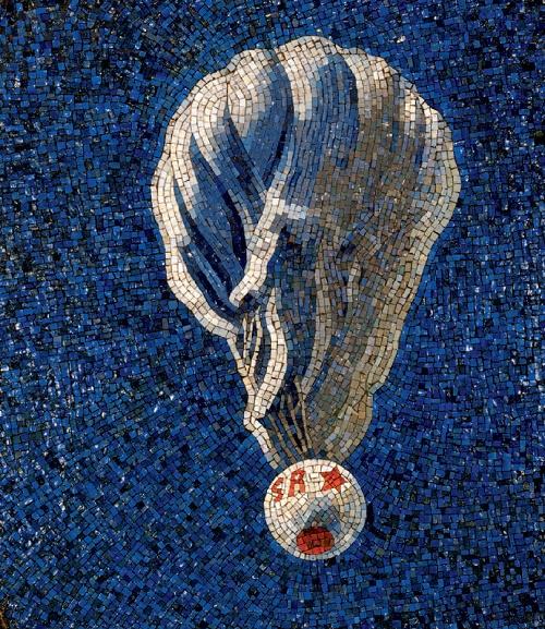 Stratospheric balloon. Mosaic on the Mayakovskaya metro station. 1938. Detail