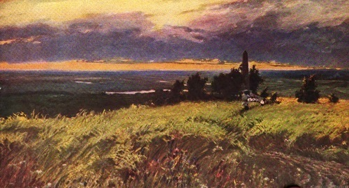 Soviet landscape painters. V. Dmitriev. Here fought till death