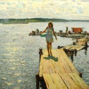 In the summer on the Volga at Ples, 1980