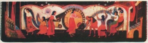 A. Klipov. Casket 'City-weaver'. Fragment. 1978