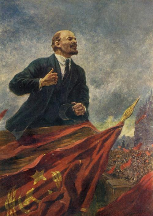 """V.I. Lenin on a tribune"". 1930. State Historical Museum"