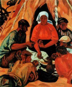 Afternoon snack. 1963-1966. State Tretyakov Gallery