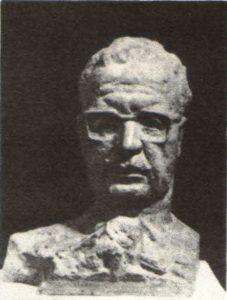 Salvador Allende. Gypsum. 1973
