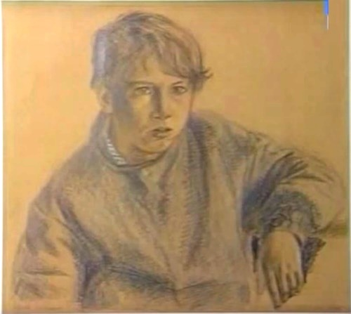 A boy. Pencil Drawing