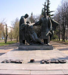 Soviet sculptor Oleg Komov