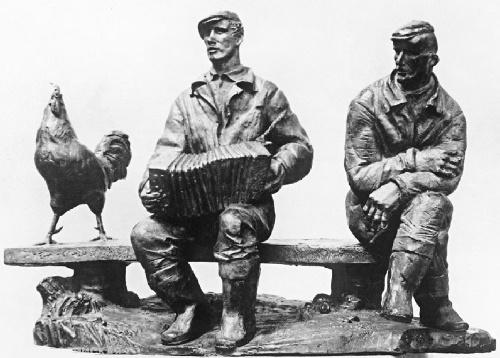 Soviet Russian sculptor Vladimir Koshelev