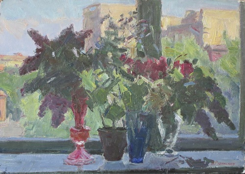 Flowers on the window. 1965