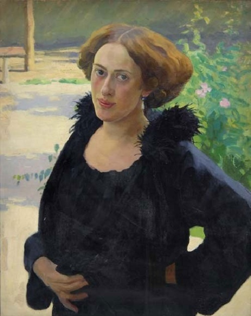 Soviet artist Georgy Vereisky (1886 - 1962). Portrait of a sister. 1920