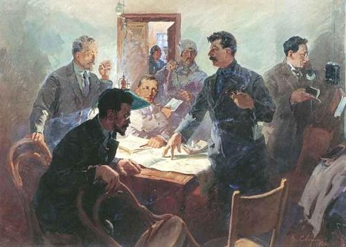 Soviet artist Vasily Svarog. Headquarters of October. 1934